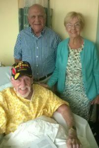 Visiting Sgt Davis at VA Hosp.